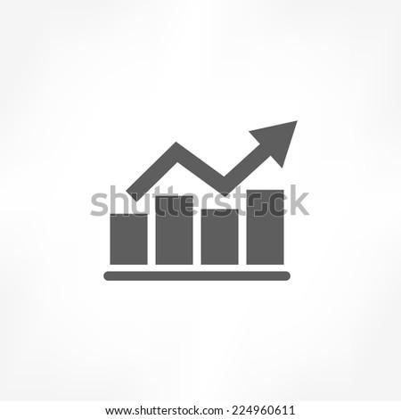 graph icon - stock vector