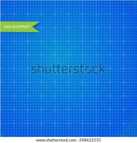 Graph millimeter paper blueprint - stock vector