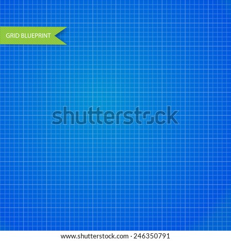 Graph, millimeter paper blueprint. vector - stock vector