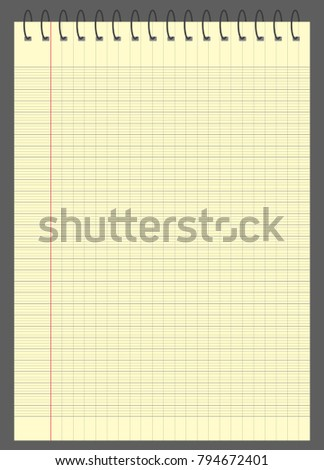 graph paper lined graph paper a 4 stock vector 794672401 shutterstock