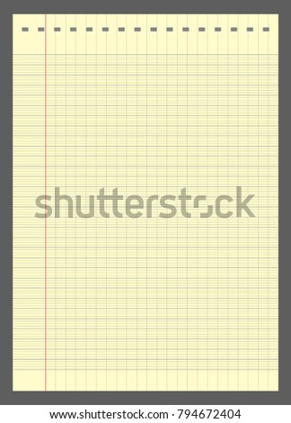 graph paper lined graph paper a 4 stock vector 794672404 shutterstock
