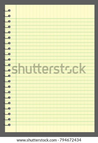 graph paper lined graph paper a 4 stock vector 794672434 shutterstock