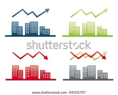 graph - realty - stock vector