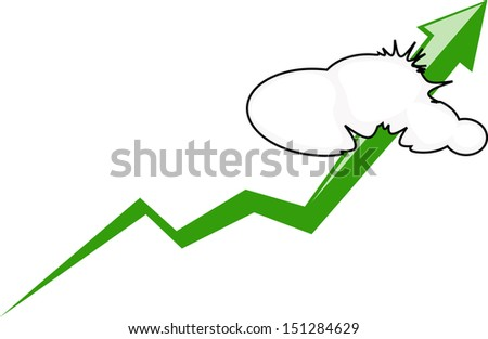 graph up - stock vector