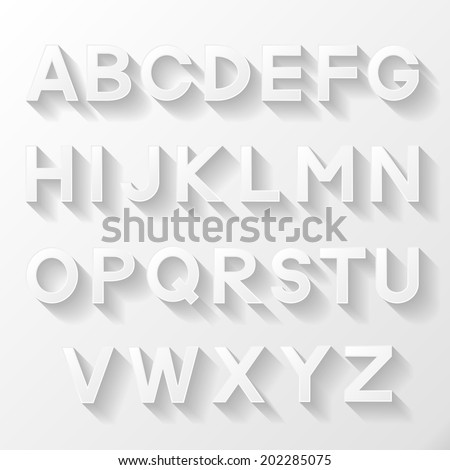 Graphic alphabet set. Vector illustration.  - stock vector