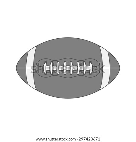 Graphic american Football Ball. Vintage Illustration of sport Object