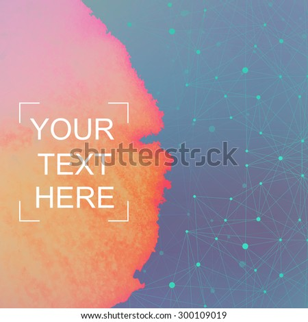Graphic background dots with connections for your design. Vector illustration. - stock vector