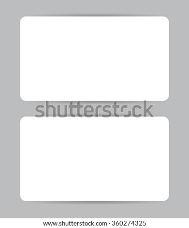 Graphic business card design. Front and back. Round corners. Vector set. - stock vector