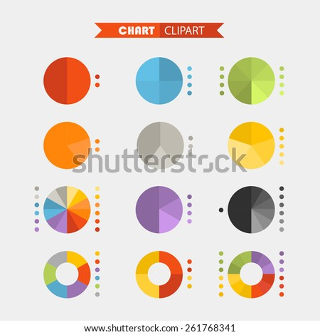Graphic business ratings and charts .Flat infographic elements clipart - stock vector