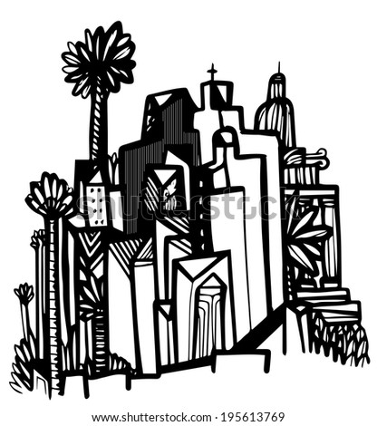 Graphic city  - stock vector