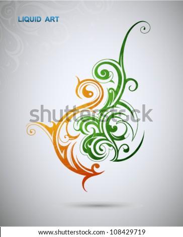 Graphic design element. Violin shape - stock vector