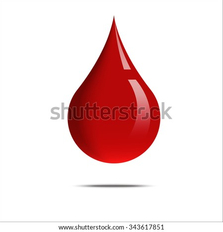 graphic design of a drop of blood
