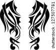 Graphic design Tribal tattoo wings - stock vector