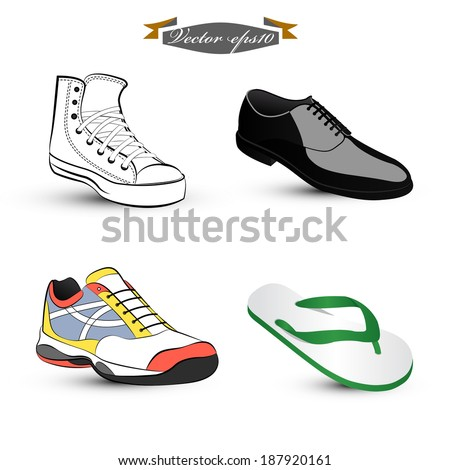 graphic design vector of set of shoes