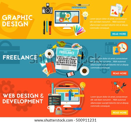 Graphic Design , Webdesign, Development And Freeance Concept