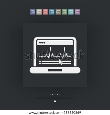 Graphic diagram computer icon - stock vector