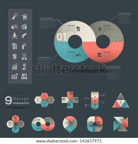 Graphic Element & Infographic template - stock vector