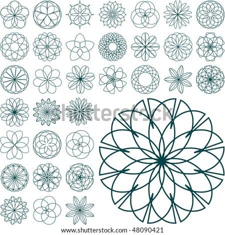 Graphic elements set. Vector illustration. - stock vector