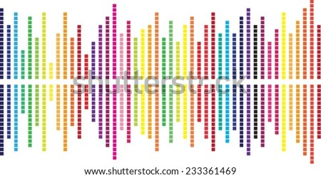 Graphic equalizer color  - stock vector