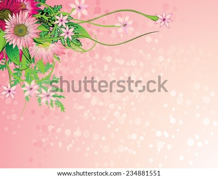 Graphic floral backgroundcute floral invitation cards stock vector graphic floral backgroundcute floral invitation cards for your designwedding invitation card stopboris Gallery