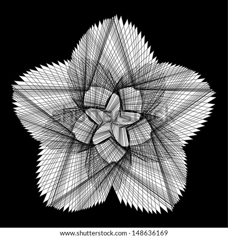 Graphic Flower - stock vector