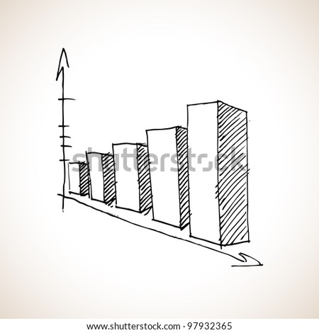 Graphic for business doodle - stock vector
