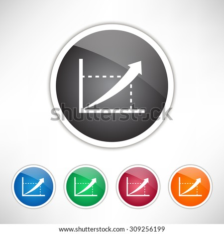 Graphic icon. Set of colored icons. - stock vector