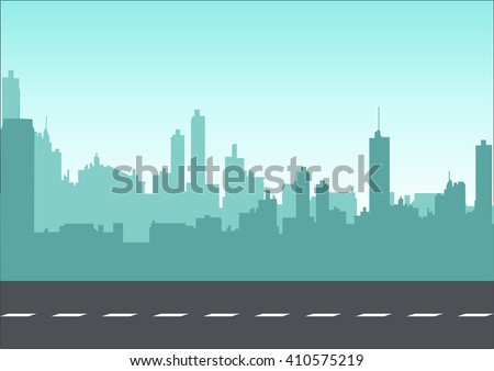 Graphic illustration of a cityscape - stock vector