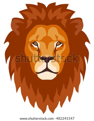 graphic illustration lion head mane stock vector 482241547 rh shutterstock com lion face cartoon drawing lion face cartoon logo