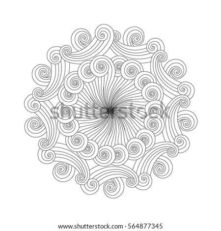 water mandala coloring pages | Zentangle-inspired Stock Photos, Royalty-Free Images ...