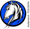 Graphic Mascot Vector Image of a Mustang Bronco Horse - stock vector