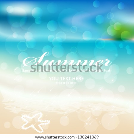 Graphic message for your summer design. Vector Blurry