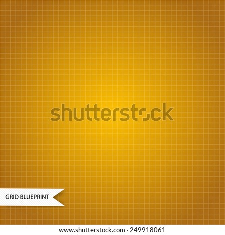 Graphic millimeter paper blueprint yellow color - stock vector