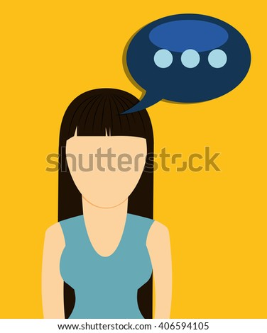 Graphic of Chat design, editable vector
