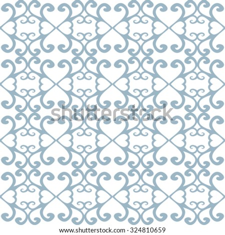Graphic seamless background with floral elements - stock vector