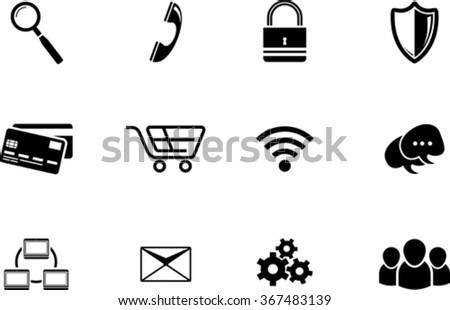 Graphic set of black  web icon - stock vector
