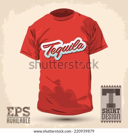 Conjunto de quotfood drinksquot de julio aldana en shutterstock for Shirt lettering near me