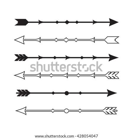 Graphic Vintage Arrow Set Vector