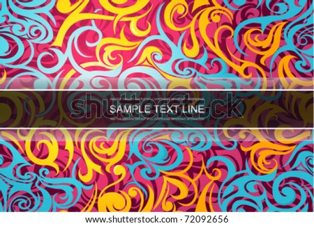 Graphic web template. EPS-10 - stock vector
