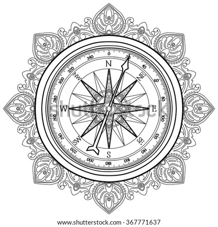 compass coloring pages - photo#22