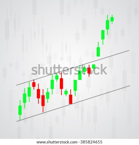 Graphical analysis of financial markets. - stock vector