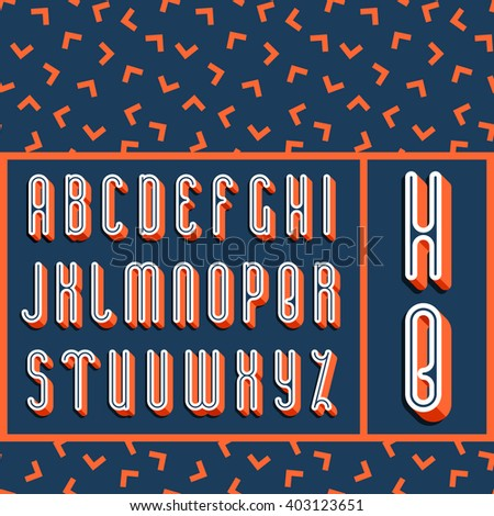 Graphical bright font with 3d effect shadow. Vector modern design typescript plus seamless pattern (background).  - stock vector