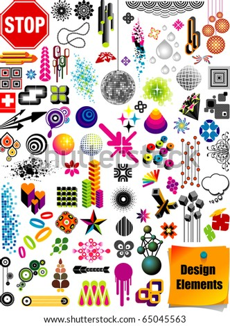 Graphics Collection - stock vector