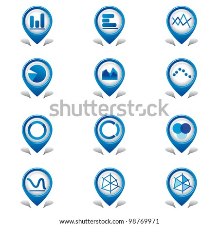 Graphs Tab Icons - stock vector