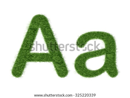 Grass Alphabet. Letter A of grass.  Vector Illustration