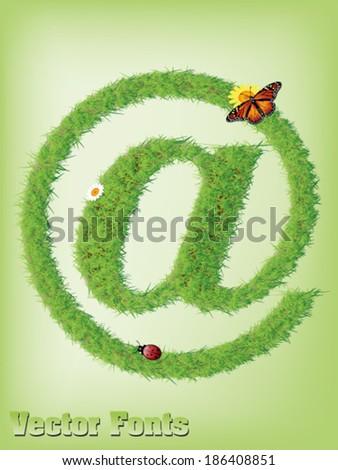 Grass AT sign  as vector - stock vector