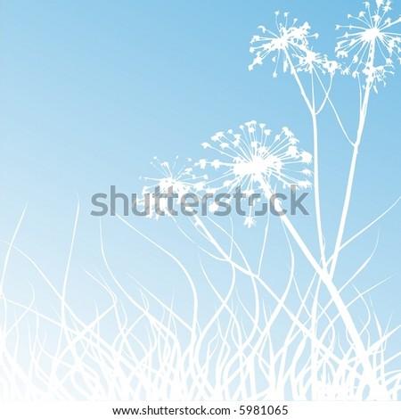 Grass background - stock vector