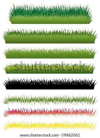 Grass set - stock vector