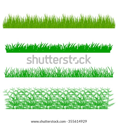 grass, shrubs - stock vector
