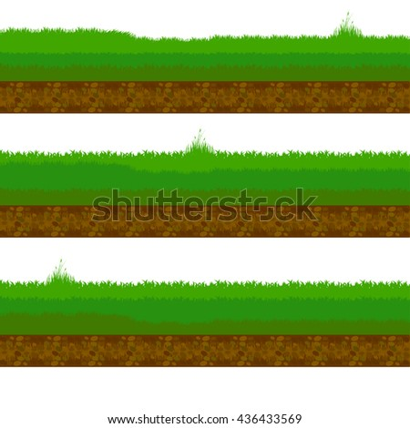 grass, shrubs. Soil and stones. Texture for games.